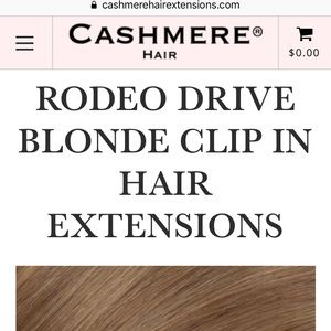 Cashmere hair extensions rodeo drive blonde